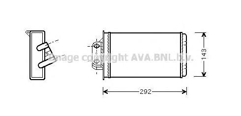 FTA6273 Радиатор отопителя FIAT PALIO 1.2-1.6 96-