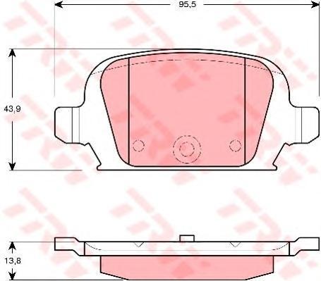 GDB1412 Колодки тормозные дисковые задн OPEL: CORSA C 00-, TIGRA TwinTop 04-