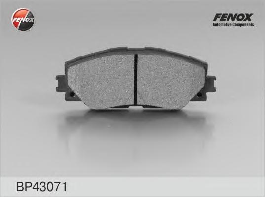 BP43071 Колодки тормозные TOYOTA AURIS 1.4-1.6 07-/COROLLA 1.4 07-/RAV 4 06- передние