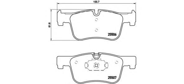 P06070 Колодки тормозные BMW 1 F20/21 /3 F30/34/35 /4 F32/36 передние