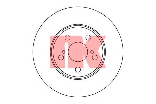 204539 Диск тормозной TOYOTA CARINA E 1.6-2.0 92-95/CELICA 1.8 93- передний вент.