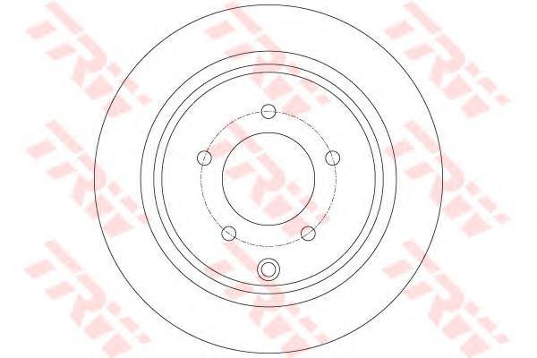 DF6177 Диск тормозной MITSUBISHI ASX 10-/OUTLANDER 06- задний