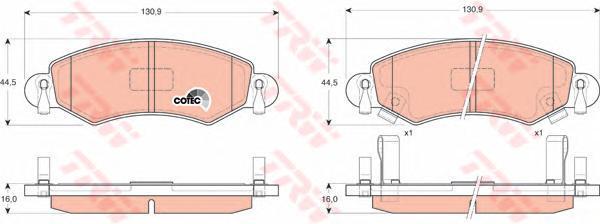 GDB1420 Колодки тормозные OPEL AGILA 00-/SUZUKI IGNIS 03- передние