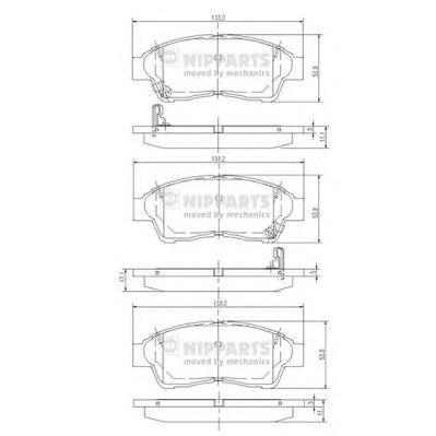 J3602064 Колодки тормозные COROLLA 9201/CARINA E 9296/RAV 4 9495 передние