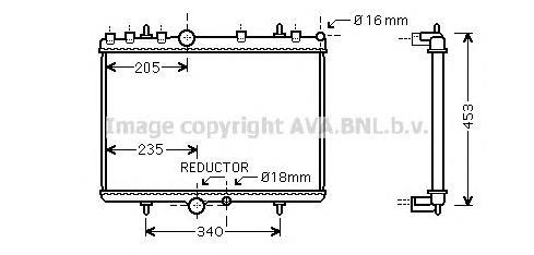 PE2269 Радиатор системы охлаждения CITROEN: C5 (RC_) 2.0 16V (RCRFJB, RCRFJC) 04 - , C5 Break (DE_) 2.0 16V (DERFNF, DERFNC, RER