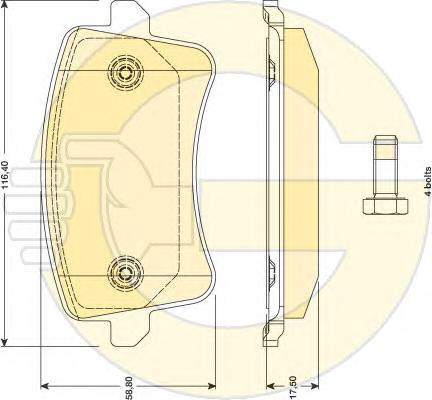 6117651 Колодки тормозные AUDI A4/A5/Q5 1.8-3.2 07- задние