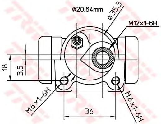 BWF167 Цилиндр торм.раб.CITROEN XSARA/ZX/PEUGEOT 206/306/RENAULT 19 1.4-1.9D 88-05
