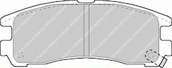 FDB803 Колодки тормозные MITSUBISHI GALANT 92-04/PAJERO PININ 99-/SPACE WAGON 91-99 зад