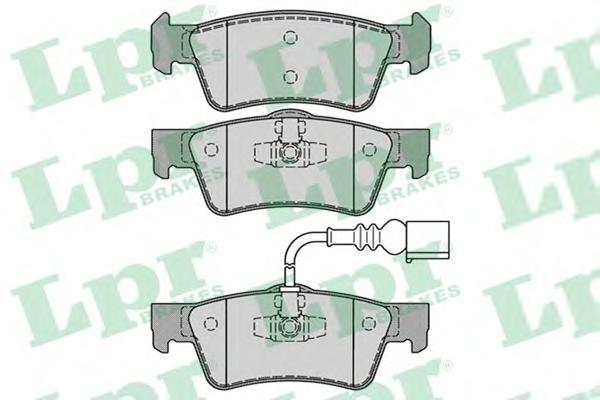 05P1284 Колодки тормозные VOLKSWAGEN TRANSPORTER V/MULTIVAN V 03- задние