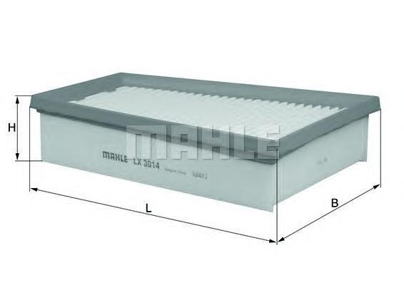 LX3014 Фильтр воздушный RENAULT SCENIC/MEGANE 2.0D 09-