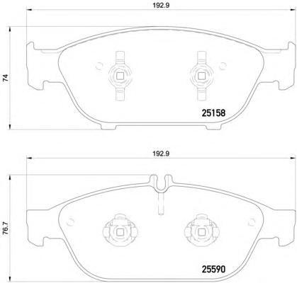P85127 Колодки тормозные AUDI A8 3.0-4.2 (1LL) 09- передние