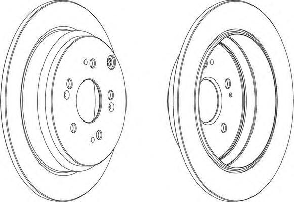 DDF1608 Диск тормозной HONDA CR-V 02- задний D=302мм.