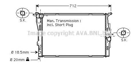 BWA2291 Радиатор BMW E87/E90 1.6-3.0 04-