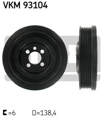 VKM93104 Шкив коленвала Audi. Ford. Seat. Skoda. VW 1.9TDi/1.9SDi/2.0TDi/2.0SDi 95