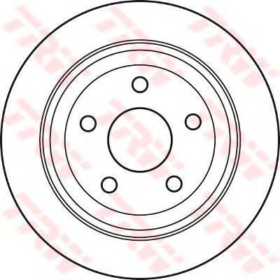 DF6027 Диск тормозной CHRYSLER 300C 04- задний не вент.