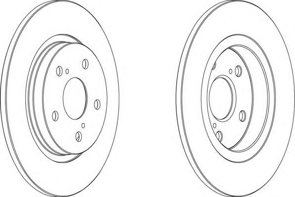 DDF1755 Диск тормозной TOYOTA AVENSIS 09- задний D=290мм.