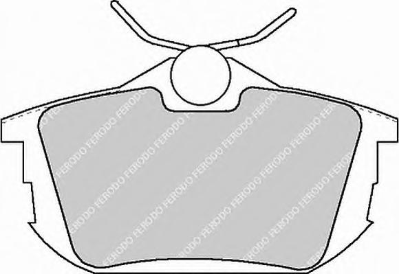 FDB1095 Колодки тормозные MITSUBISHI COLT 04/SMART FORFOUR 05/VOLVO S40/V40 задние