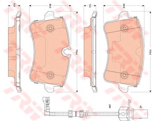 GDB1867 Колодки тормозные AUDI A8 3.0-4.2 quattro 09- задние