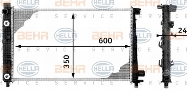 8MK376713054 Радиатор системы охлаждения MERCEDES-BENZ: A-CLASS (W168) A 140 (168.031, 168.131)/A 160 (168.033, 168.133)/A 160 C