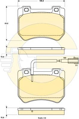 6119049 Колодки тормозные ALFA ROMEO 159 05-/BRERA/SPIDER 06- передние