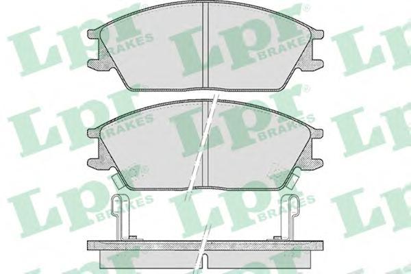 05P542 Колодки тормозные HYUNDAI ACCENT/GETZ передние