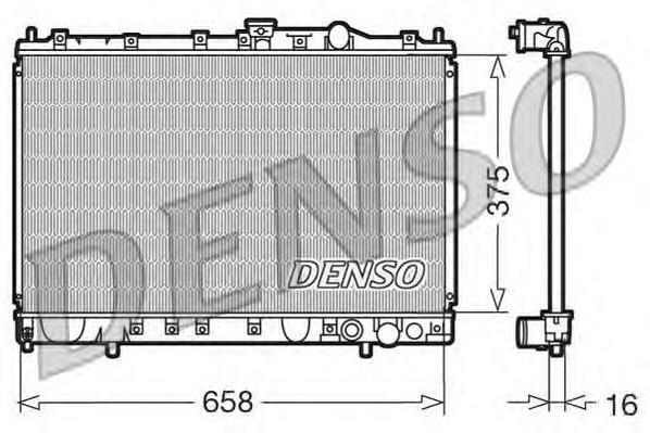 DRM45002 Радиатор системы охлаждения MITSUBISHI: COLT IV (CAA) 1.6 (CA4A)/1.6 GLXI 16V (CA4A)/1.8 GTI 16V (CA5A) 92 - 96 , LANCE
