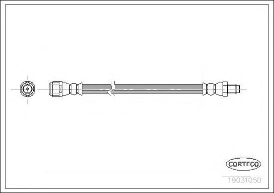 19031050 Шланг торм. Re 300мм MB M(W163) 98-05