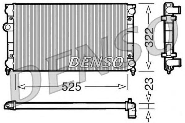 DRM32006 Радиатор системы охлаждения VW: GOLF III (1H1) 1.8/1.8 Syncro (1HX1) 91 - 97 , GOLF III Cabriolet (1E7) 1.8 93 - 98 , G