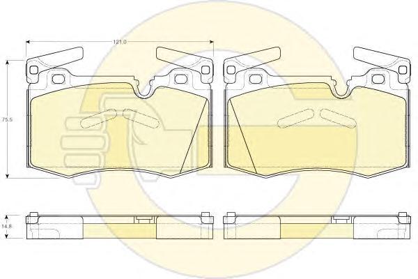 6119482 Колодки тормозные MINI COOPER/ONE 07- передние
