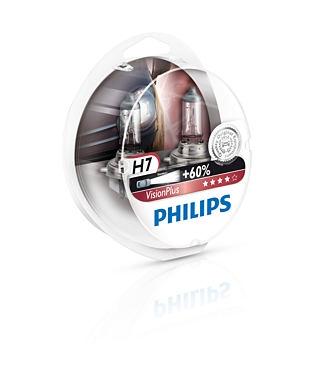 12972VPS2 Лампа H7 VisionPlus 12V 55W PX26d (компл.2шт)