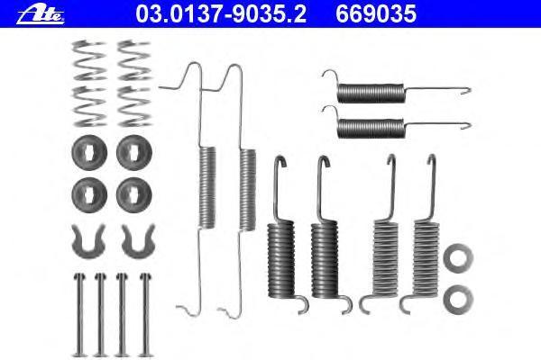 03013790352 Комплектующие, тормозная колодка