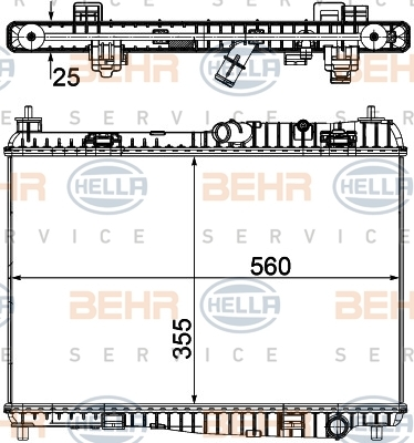 8MK376754761 Радиатор системы охлаждения FORD: FIESTA VI 1.25/1.4/1.6 Ti 08 -