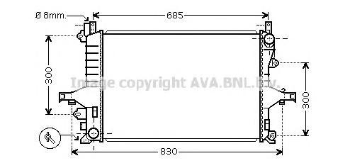 VOA2114 Радиатор VOLVO S80 2.0-2.5 M/T 97-