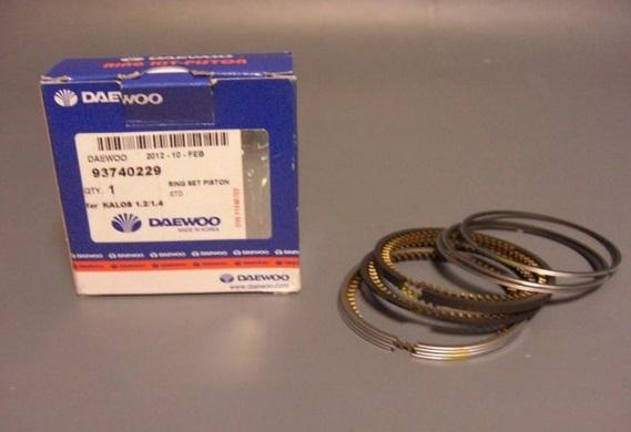 93740229 Кольца поршневые CHEVROLET AVEO STD 1.4 DOHC на 4порш.