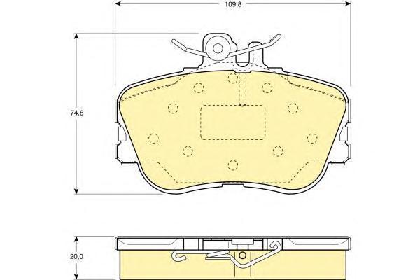 6110941 Колодки тормозные MERCEDES W202 93-00 передние
