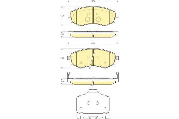 6133659 Колодки тормозные HYUNDAI ELANTRA/MATRIX/SONATA/SSANGYONG REXTON/KORANDO перед.