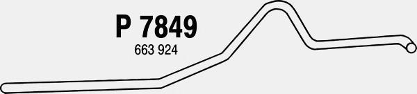 P7849 Трубопровод выпускной VOLVO DUETT 1.8 61-67