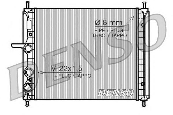 DRM09150 Радиатор системы охлаждения FIAT: BRAVA (182) 1.2 16V 80/1.4 12 V (182.BA)/1.6 16V (182.BB)/1.6 16V (182.BH) 95 - 02 ,