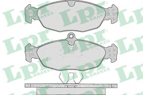 05P599 Колодки тормозные OPEL ASTRA F/DAEWOO NEXIA/CHEVROLET LANOS 1.4/1.5 97 передние