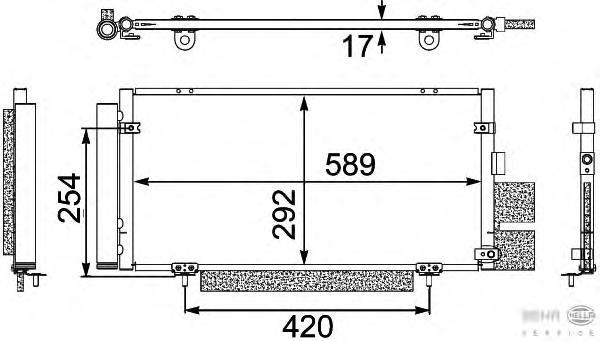 8FC351304121 Конденсатор кондиционера SUBARU: LEGACY IV 2.0/2.5/3.0 03-, LEGACY IV универсал (B13_) 2.0/2.0 Turbo HP/2.0 Turbo R