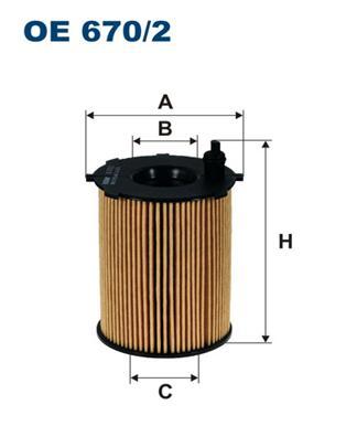 OE6702 Фильтр масляный FIAT PUNTO/PANDA 0.9 10-
