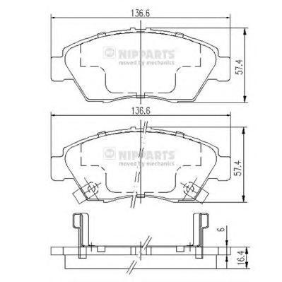 J3604033 Колодки тормозные HONDA CIVIC 91-05 передние