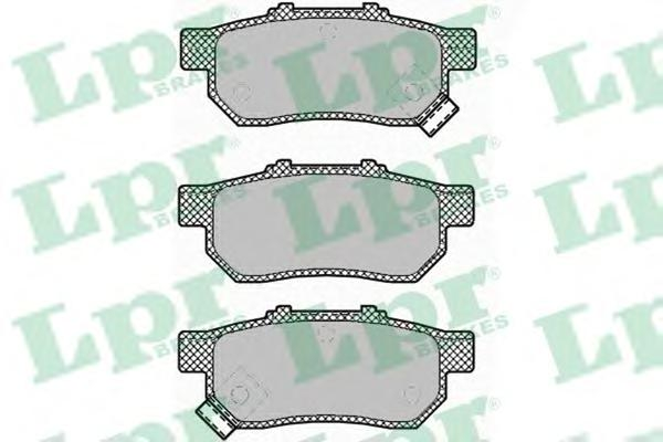 05P1425 Колодки тормозные HONDA CIVIC VI 1.6 95-01/JAZZ 1.2/1.4 02- задние