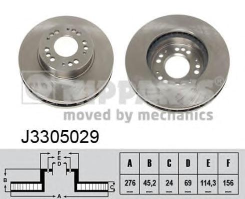 J3305029 Диск тормозной MITSUBISHI ECLIPSE 2.0 95-99/SIGMA 3.0 90-96 передний вент.