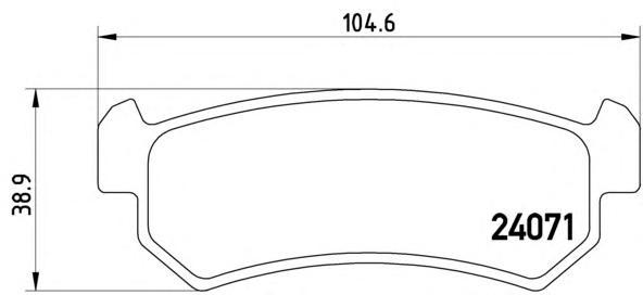 P10001 Колодки тормозные CHEVROLET LACETTI 03-06/DAEWOO NUBIRA задние