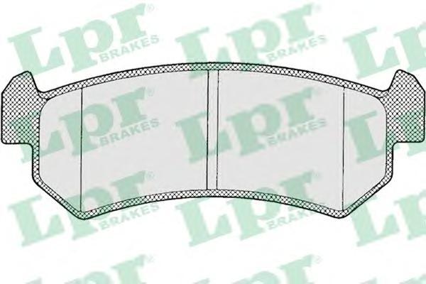 05P1199 Колодки тормозные CHEVROLET LACETTI 03-06/DAEWOO NUBIRA задние