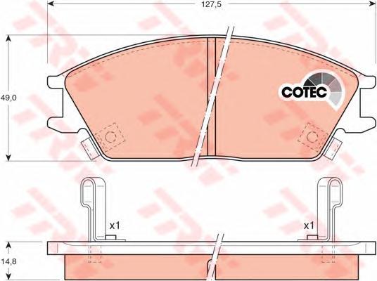 GDB893 Колодки тормозные HYUNDAI ACCENT/GETZ передние