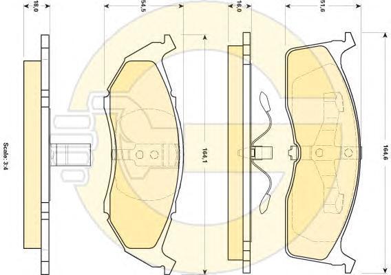6140915 Колодки тормозные CHRYSLER 300M/VOYAGER/DODGE CARAVAN передние