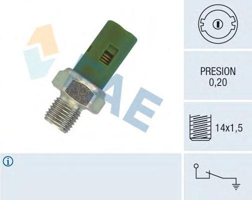 12630 Датчик давления масла RE Clio II, Kang, NI Almera