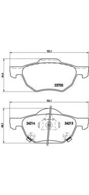 P28036 Колодки тормозные HONDA ACCORD 2.0/2.2/2.4 03 передние
